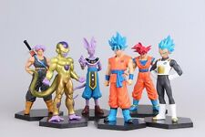 Lot de 6pc Dragon ball DBZ Son Goku Vegeta Trunks Action Figurines Jouet Gift
