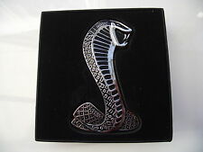Chrome Cobra Die Cast Metal emblem Front Grill or Trunk Logo Emblem Badge