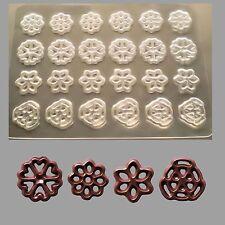 Schokoladenform - Dekorfolie - Aufleger-4 verschiedene  Ornamente