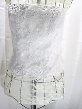Chetta B  Bustier Corset top Strapless  Couture White women's Sz 8  NEW $270