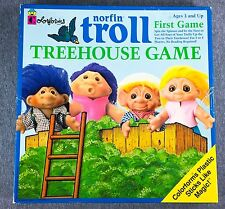 Norfin Troll Treehouse Board Game 1992 Complete Colorform Trolls