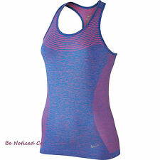 Nike Dri-FIT Knit Women's Running Tank Top XS Blue Pink Gym Casual Running New
