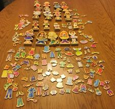 Huge Lot T.S. Shure Daisy Girls Magnetic Wooden Dress Up Dolls 213 pieces