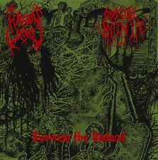 "FUNERAL WHORE / OBSCURE INFINITY - Summon The Undead - 7""EP - DEATH METAL"