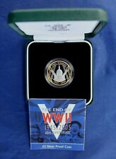 """2005 Silver Proof £2 coin """"WWII Anniversary"""" in Case with COA (R1/1)"""