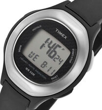 PRE-OWNED Classic $59.95 Timex Health Touch HRM Watch Black/Silver T5K483