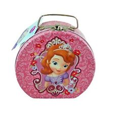 Disney Sofia the First Semi-round Shaped Small Tin Box with Clasp & Handle