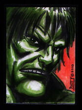 Hulk Original Art Sketch Trading Card by Marvel Artist Sean Patty X-Men Avengers