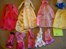 Lot Of Barbie Clothing Dresses clothes Outfits ballgowns evening snow white