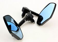 "7/8"" BLACK HANDLE BAR END MIRRORS FOR BOBBER CLUBMAN RACER BUELL MOTORCYCLE/BIKE"
