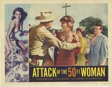 """""""ATTACK OF THE 50 FOOT WOMAN""""-ORIGINAL LOBBY CARD-HORROR-ALLISON HAYES-#4"""