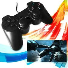 Black Wired USB 2.0 Gamepad Game Controller Joypad Joystick for Computer Laptop