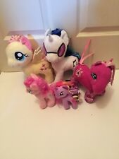 "Lot of 5 MY LITTLE PONY plush toys, 1 Ty, 4 Hasbro  6"" & 11"""