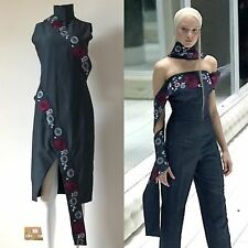 Alexander Mcqueen Dress Runway Vintage Embroidered Spring Summer 2001 Voss
