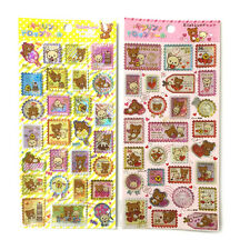 San-X Rilakkuma Stamps Shaped Decorative Sticker 2pc Set (SE27101/SE27102) 13C