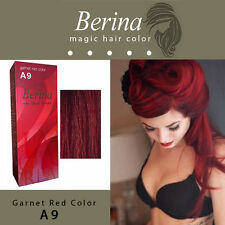 Berina A9 Permanent Hair Dye Color Fashion Colour Cream A9 Garnet Red Color NEW