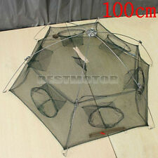 Folding Fishing Crab Crayfish Lobster Fish Bait Trap Cast Net Shrimp 100cm*100cm