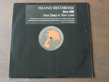 "DRU HILL How Deep Is Your Love UK PROMO 12"" 1998 NM VINYL"