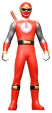 Power Rangers Sentai Hero Vinyl Figure Ninja Storm Ninpuu Hurricanger Red