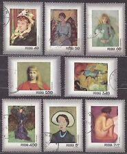 POLAND 1971 USED SC#1839/45+B123 Stamp Day - Woman in Polish painting.