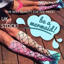 Uk stock new femmes filles sirène drôle genou chaussettes cadeau!