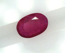 EGL USA CERTIFIED OVAL CUT RED NATURAL RUBY 0.48 CT GEMSTONE JULY BIRTH STONE