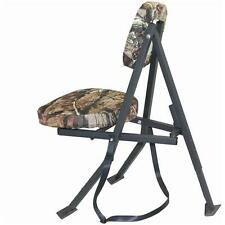 Redneck Folding Swivel Hunting Blind Chair Tree Camo Cushion Seat Steel Frame