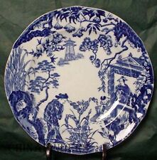 ROYAL CROWN DERBY china BLUE MIKADO pattern Salad or Dessert Plate 8-1/8""