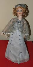 "CRACKER BARREL AMERICAN CLASSICS ROSE MARIE PORCELAIN DOLL + STAND 24"" EDWARDIAN"