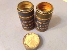 Lot Of 2 Collins & Harlan Edison Cylinder Rolls Two Key Rag Hoko Moko Isle