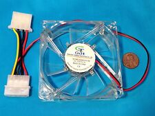 1 Piece Transparent Blue LED Light DC 12V 8CM 80MM Computer Case Cooling Fan 4P