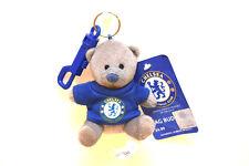 Chelsea FC Teddy Bear School Bag Buddy KeyRing Car Mirror Hanging Fluffy Soft