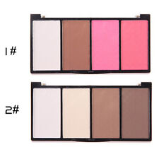 Pop 4 Colors Cosmetic Contour Face Powder Makeup Blush Blusher Palette