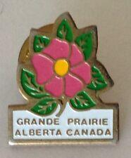 Grande Prairie Alberta Canada Flower Pin Badge Rare Vintage Souvenir (G10)