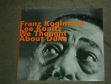 Franz Koglmann Lee Konitz We Thought About Duke (CD, Aug-2002, Hatology) sealed