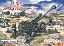 SKIF 122mm Obús de artillería D-30 modelo equipo construcción 1:35 Punta kit