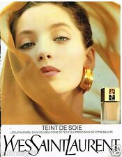 Publicité Advertising 1989 Cosmétique maquillage Yves Saint Laurent