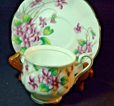 Royal Albert Violets Flower of the Month Series   Violets Cup and Saucer