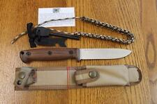 Ontario Knife Co OKC 6525 Bushcraft Knife, Sheath & Fire Starter Kit 5160 Steel