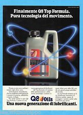 QUATTROR992-PUBBLICITA'/ADVERTISING-1992- Q8 - TOP FORMULA OIL