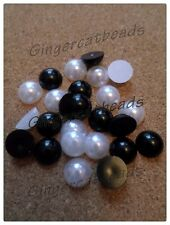 Acrylic Pearl Cabochons - Various Sizes & Colours
