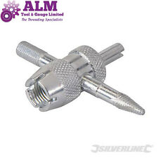 New Silverline 4-Way Tyre Valve Repair Tool, for Car, Bike, Van tyres
