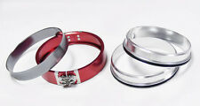"""Pegasus 2.5"""" RED Universal Aluminum Clamshell Flange Clamp Kit for Turbo Pipe"""