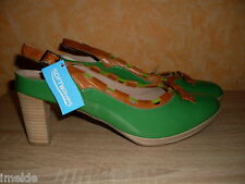 Softwaves Slingback NEU Gr. 45 in grün / braun kombinertem Lackleder II. WAHL