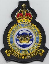 RAF Coastal Command Royal Air Force Embroidered Crest Badge Patch MOD Approved
