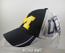 U of M University of Michigan Wolverines Baseball Hat Ball Cap Mesh Black NWT