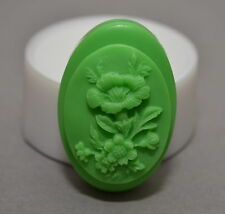 FLORAL  SOAP BAR - Soap Silicone Mould PLASTER CANDLE CLAY WAX  - mold