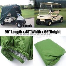 For EZ Go Club Car Yamaha 2 Passengers Seat  Enclosure Storage Golf Cart Cover