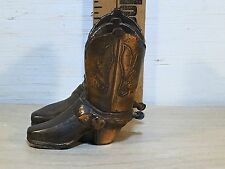 The best old Small heavy decorative cowboy boot figurine heavy alloy metal