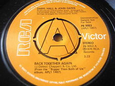 "DARYL HALL & JOHN OATES - BACK TOGETHER AGAIN      7"" VINYL DEMO"